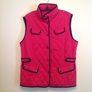 Red with black vest